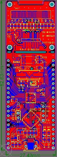 stm32驱动0.96寸oled显示屏硬件原理图pcb
