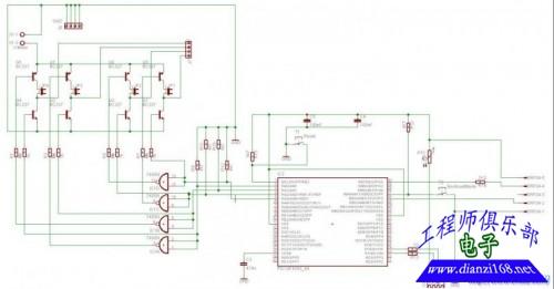 而直流电机只需要一个h桥就可以用pwm调速控制.