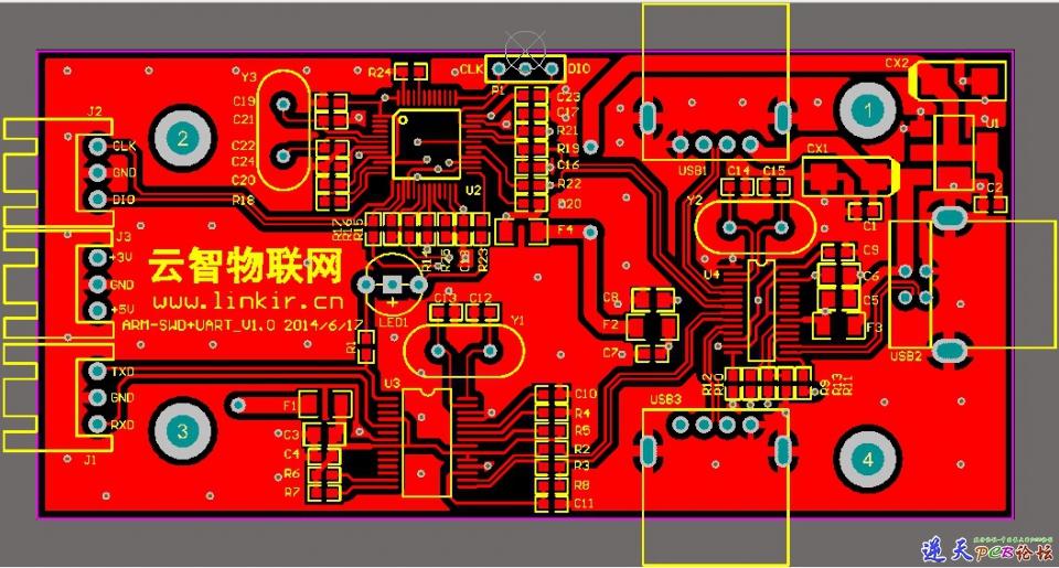 红色电路图背景